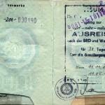 Ausweis-DDR-Visum
